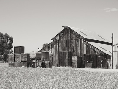 Old Barns B&W